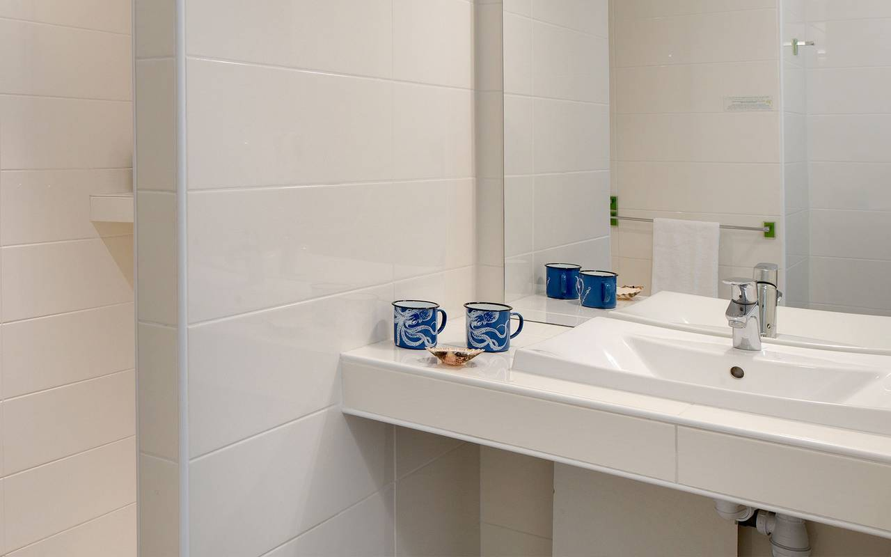 Bathroom sink, hotel La Cotinière, Ile de Lumière