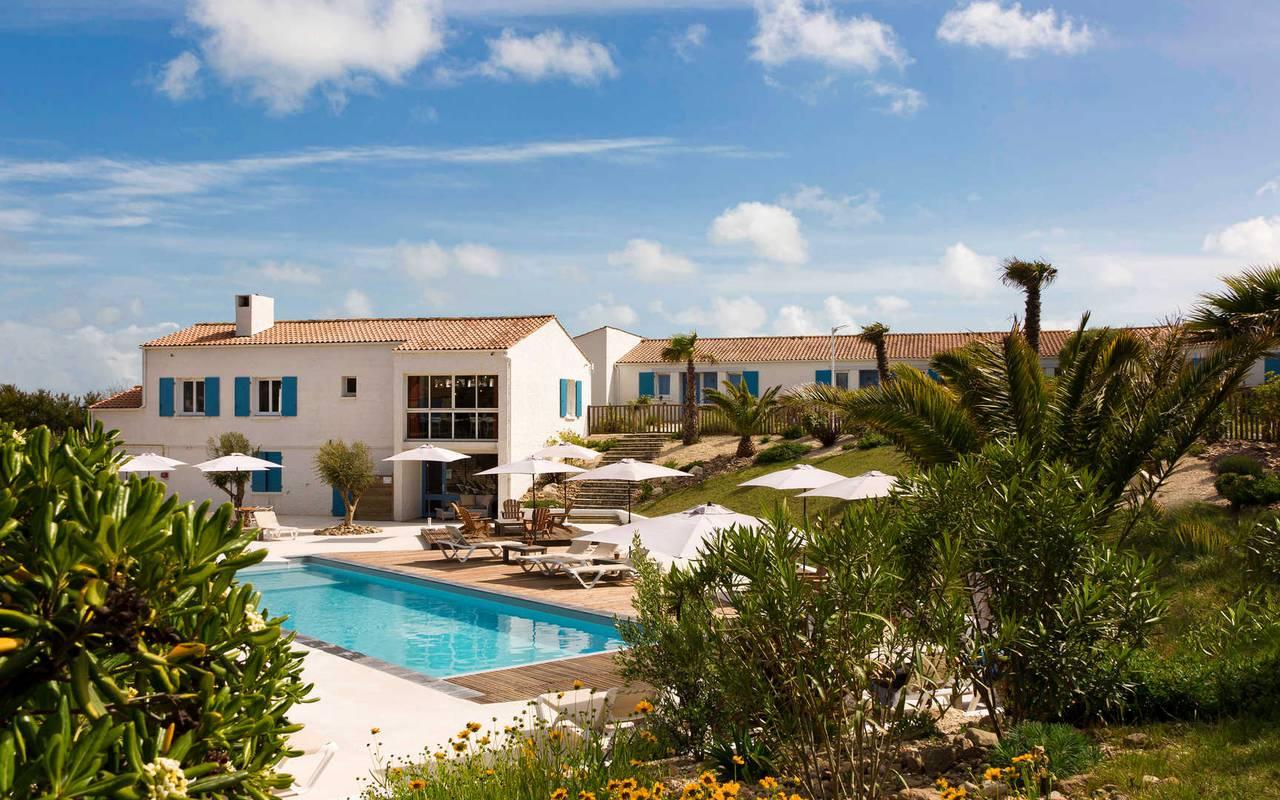 Hotel with swimming pool, hotel Ile d'Oléron, Ile de Lumière