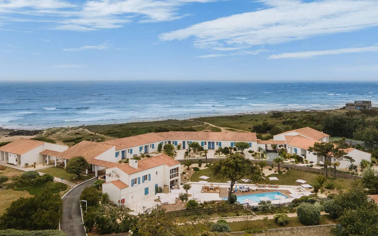 Beachfront establishment, hotel Ile d'Oléron, Ile de Lumière