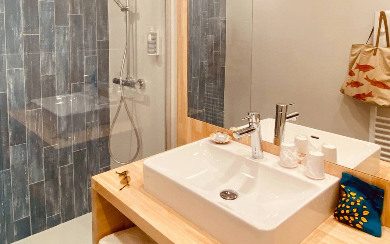 Modern bathroom, hotel La Cotinière, Ile de Lumière