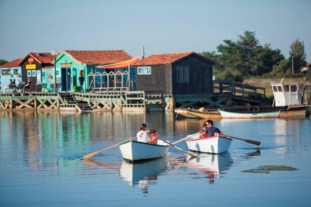 Barques, hôtel La Cotinière Ile d'Oléron, Ile de Lumière