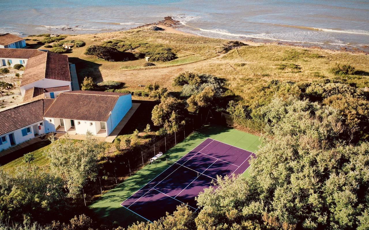Hôtel avec terrain de tennis, hôtel Ile d'Oléron, Ile de Lumière