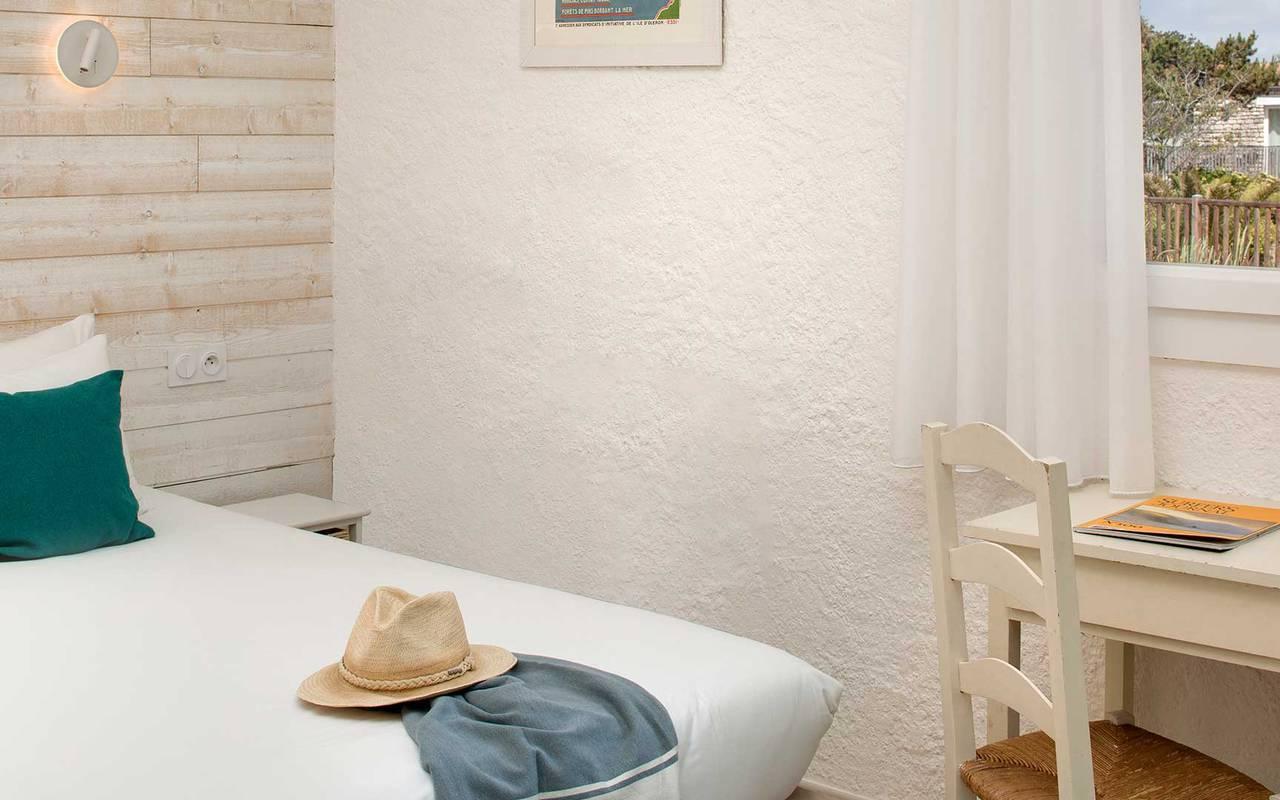 Chambre avec vue, hôtel Oléron, Ile de Lumière