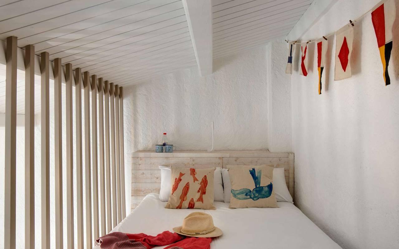 Chambre en mezzanine, hôtel Oléron, Ile de Lumière