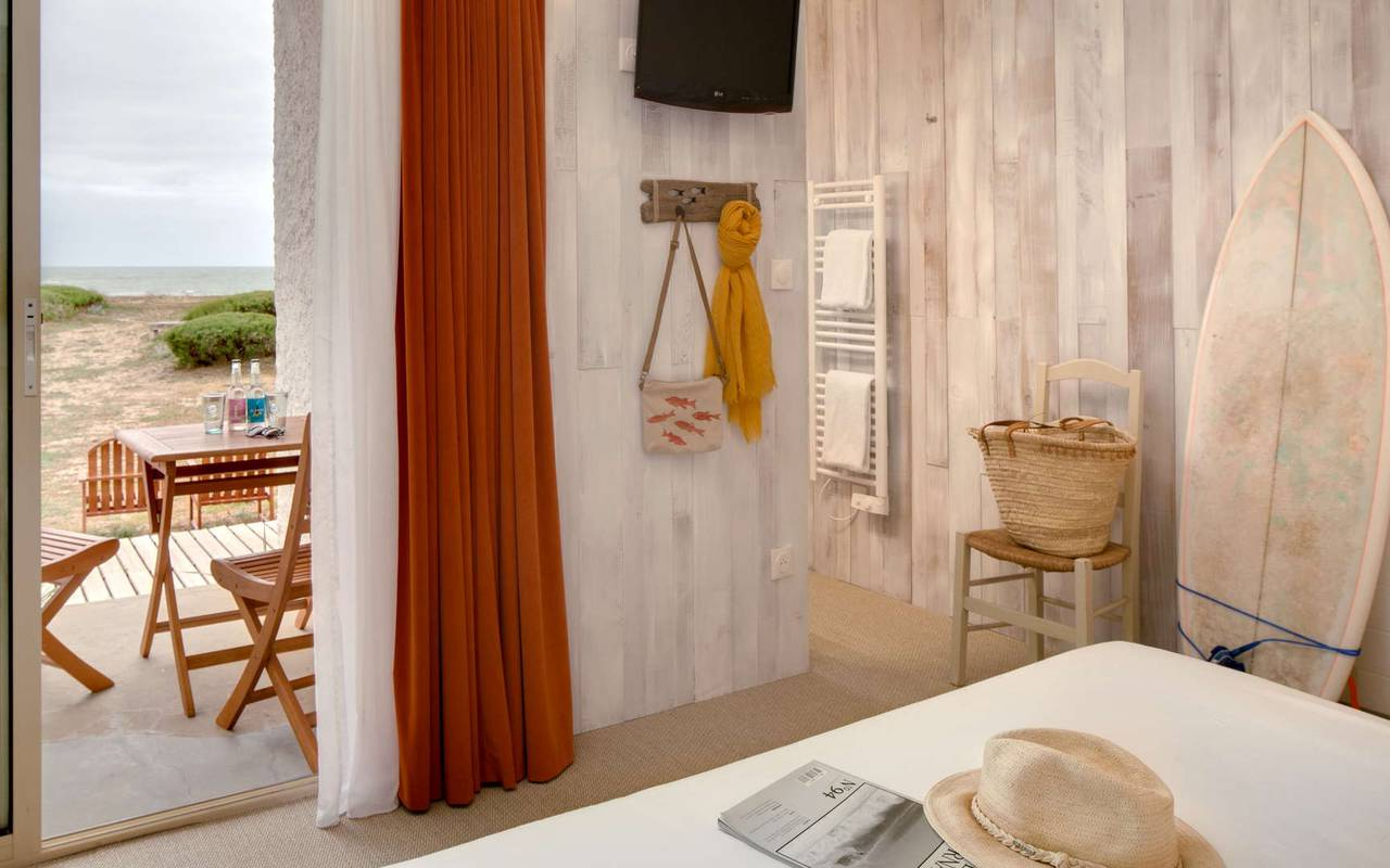 Chambre avec vue sur l'ocean, hôtel Oléron, Ile de Lumière