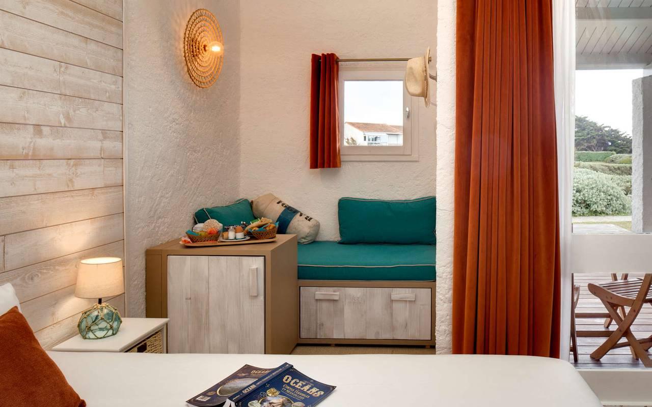 Chambre cozy, hôtel Oléron, Ile de Lumière