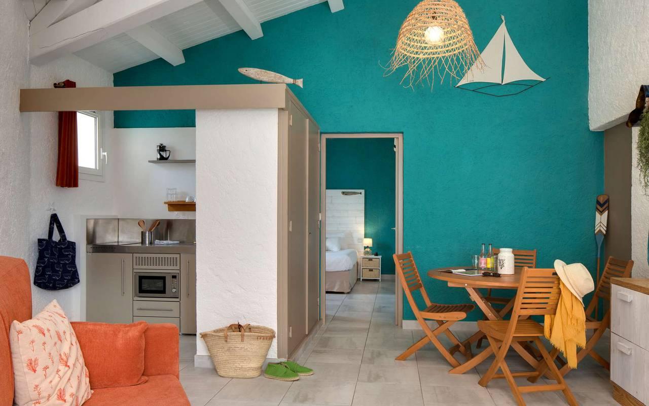 Suite avec kitchenette, hôtel Oléron, Ile de Lumière